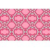 Thumbprintz Francie Trellis Pink Geometric Area Rug