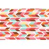 Thumbprintz Arrowhead Pink/Blue Chevron Area Rug