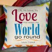 Thumbprintz World Sdgraphics Studio Sundance Printed Pillow