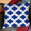 <strong>Modern Geometric Sapphire Printed Pillow</strong> by Thumbprintz
