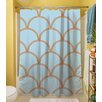 Thumbprintz Art Deco Circles Polyester Shower Curtain