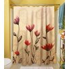 Thumbprintz Floral Paisley Stems Polyester Shower Curtain