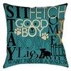 Thumbprintz Dog Commands Indoor/Outdoor Pillow