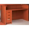 <strong>Library Single Pedestal Office Desk Station with Patron Ledge</strong> by Stevens ID Systems