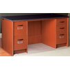 Stevens ID Systems Library Computer Desk with Double Pedestal