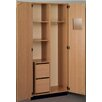 "Stevens ID Systems Science 36"" Instructor Wardrobe with File Ped"