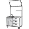Stevens ID Systems Science Demonstration Mobile Instructor's Desk with Mirror