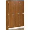 Stevens ID Systems Triple Doors Locker with 2 Shelves