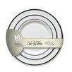 Fineline Settings, Inc Silver Splendor Plate (Pack of 256)