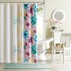 Intelligent Design Olivia Microfiber Printed Shower Curtain