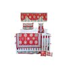 DK Leigh Red Graphic Floral 10 Piece Boutique Crib Bedding Set