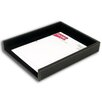3200 Series Leather Front-Load Letter Tray in Rustic Black