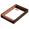 <strong>2000 Series Crocodile Embossed Leather Front-Load Legal Tray in Brown</strong> by Dacasso