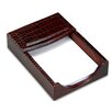<strong>Dacasso</strong> 2000 Series Crocodile Embossed Leather 4 x 6 Memo Holder in Brown