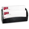 <strong>2000 Series Crocodile Embossed Leather Letter Holder in Black</strong> by Dacasso