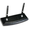 Dacasso 2000 Series Crocodile Embossed Leather Double Pen Stand in Black