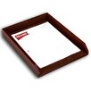 <strong>1000 Series Classic Leather Front-Load Letter Tray in Mocha</strong> by Dacasso
