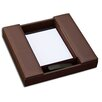 Dacasso 1000 Series Classic Leather Conference Room Organizer in Chocolate Brown