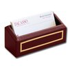 Dacasso 5000 Series 24kt Gold Tooled Leather Business Card Holder in Burgundy