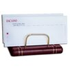 <strong>Dacasso</strong> 5800 Series Gold-Striped Leather Letter Holder in Burgundy