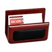 <strong>Dacasso</strong> 8000 Series Rosewood and Leather Business Card Holder