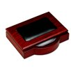 8000 Series Rosewood and Leather 4 x 6 Memo Holder