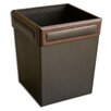 <strong>Dacasso</strong> 8000 Series Rosewood and Leather Square Waste Basket