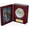 Birchwood and Metal Kennedy Desk Clock