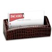 <strong>Dacasso</strong> 2000 Series Crocodile Embossed Leather Business Card Holder in Brown