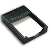 2000 Series Crocodile Embossed Leather 4 x 6 Memo Holder in Black