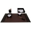 Dacasso 1400 Series Econo-Line Leather Six-Piece Desk Set in Brown