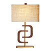 "Ziqi Home Wood Wonder Coco Ring 30"" H Table Lamp with Rectangle Shade"