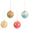 <strong>4 Piece Globe Ornament Set</strong> by Ian Snow