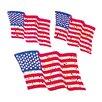 Jillson & Roberts Bulk Roll Prismatic American Flag Sticker