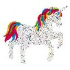 Jillson & Roberts Bulk Roll Prismatic Unicorn Rainbow Sticker