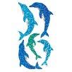 Jillson & Roberts Bulk Roll Prismatic Dolphin Sticker