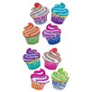 Jillson & Roberts Bulk Roll Prismatic Mini Cupcake Sticker