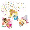 <strong>Just For Fun Sweet Dreams Fairies Wall Decal 106 Piece Set</strong> by WallCandy Arts