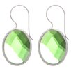<strong>Lesa Michelle</strong> Checker Board Quartz Hoop Earrings