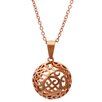 <strong>Lesa Michelle</strong> Stainless Steel Filigree Half Ball Pendant Necklace