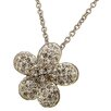 <strong>Lesa Michelle</strong> Stainless Steel Flower Crystal Pendant Necklace