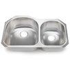 """Hahn 30.75"""" x 19.5"""" 70/30 Double Bowl Kitchen Sink"""