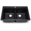 "<strong>Hahn</strong> Blanco Silgranit 33"" x 22"" Bowl Kitchen sink"