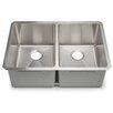 """Hahn Chef Series 29"""" x 20"""" Double Bowl Kitchen Sink"""
