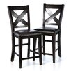 "Woodbridge Home Designs Crown Point 25"" Bar Stool (Set of 2)"