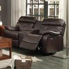 Woodbridge Home Designs Evana Double Glider Reclining with Center Console Loveseat