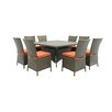 Creative Living Salinas 9 Piece Dining Set with Cushions