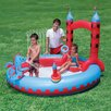 Splash and Play Round Interactive Castle Inflatable Play Pool