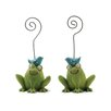 <strong>Blossom Bucket</strong> Frogs Statue with Bluebirds Note Holders (Set of 2)