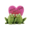 "Blossom Bucket ""With a Happy Heart"" Frogs Statue"